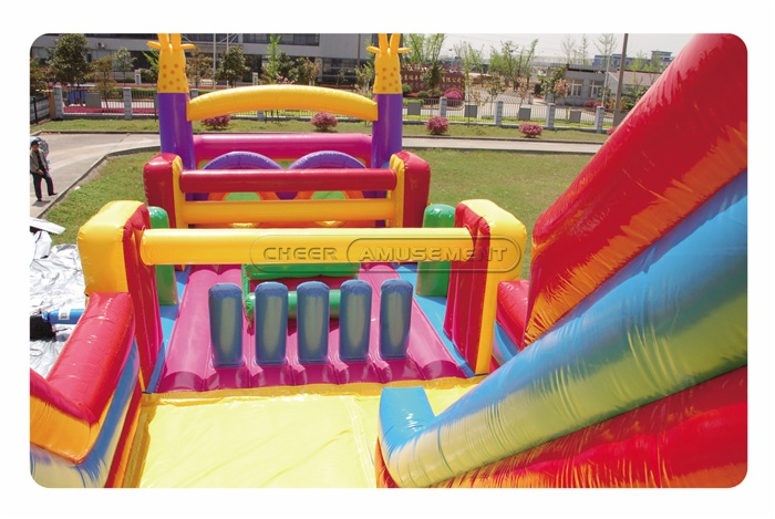 Cheer Amusement Themed Obstacle Inflatable Obstacle