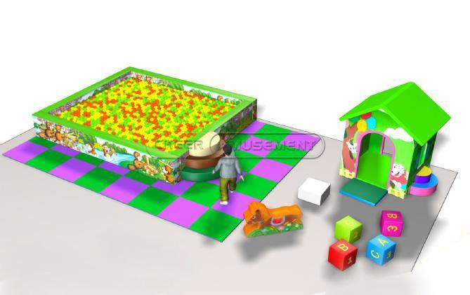 Cheer Amusement Children Play Centre Jungle Zone Themed Toddler Soft Playground Equipment
