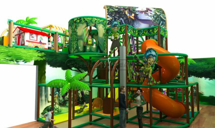 Cheer amusement jungle themed kids indoor playground for Jungle themed playroom