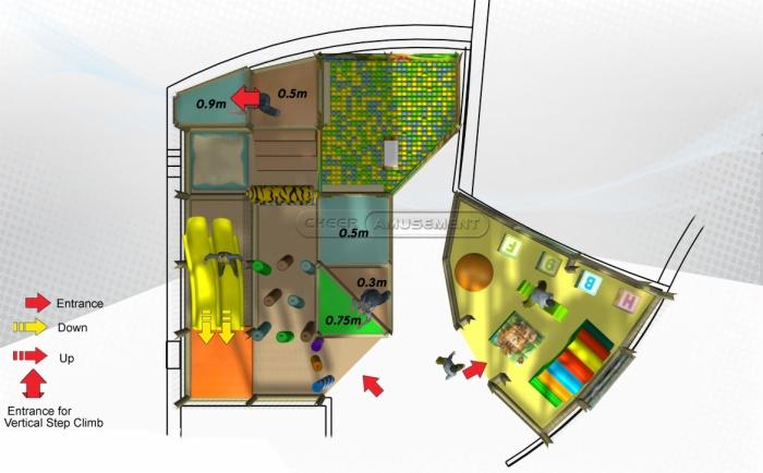 Cheer Amusement Children Indoor Jungle Themed Junior Playground