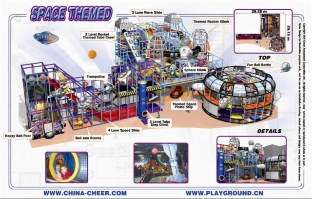 Cheer Amusement Space Themed Indoor Playground Equipment