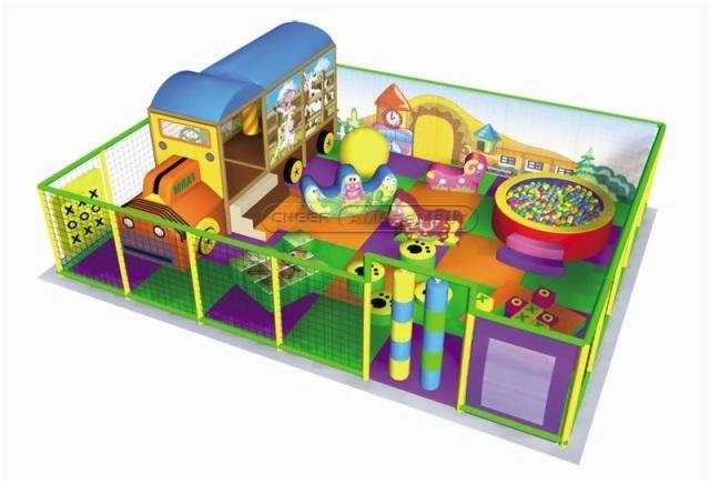 Cheer Amusement Cartoon Village Themed Toddler Playground Equipment