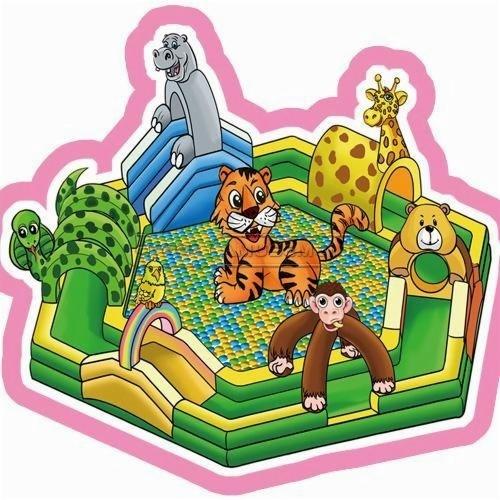 Cheer Amusement Jungle Themed Inflatable Fun City Indoor Soft Playground Amusement Equipment Supply