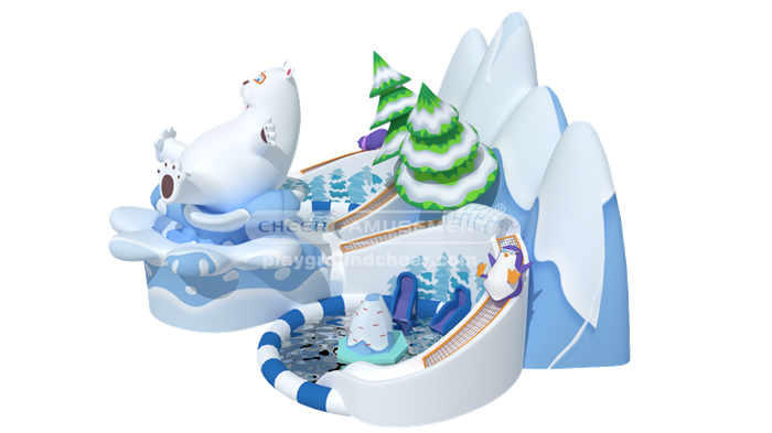 Cheer Amusement Snow-Themed Inflatable Water Park