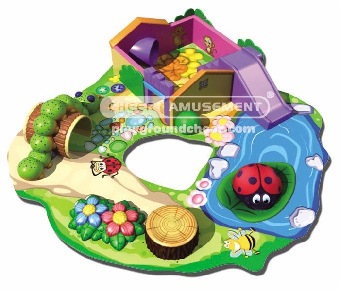 Cheer Amusement garden themed soft-sculpted foam pla y center