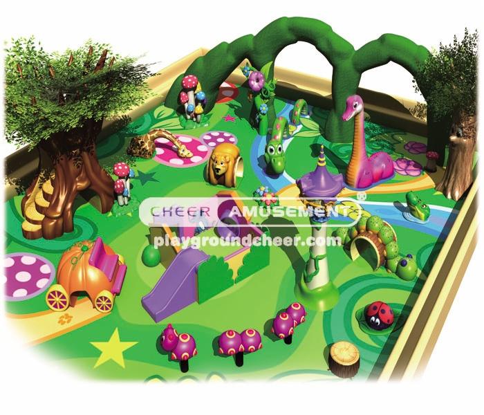Cheer Amusement farm themed soft-sculpted foam play center