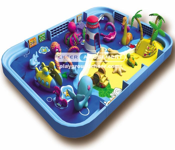 Cheer Amusement ocean themed soft-sculpted foam play center