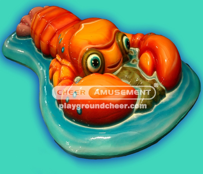 The Lobster shaped item soft play with  lovely cartoon decoration