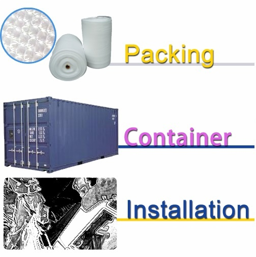 product service packing & delivery & installation