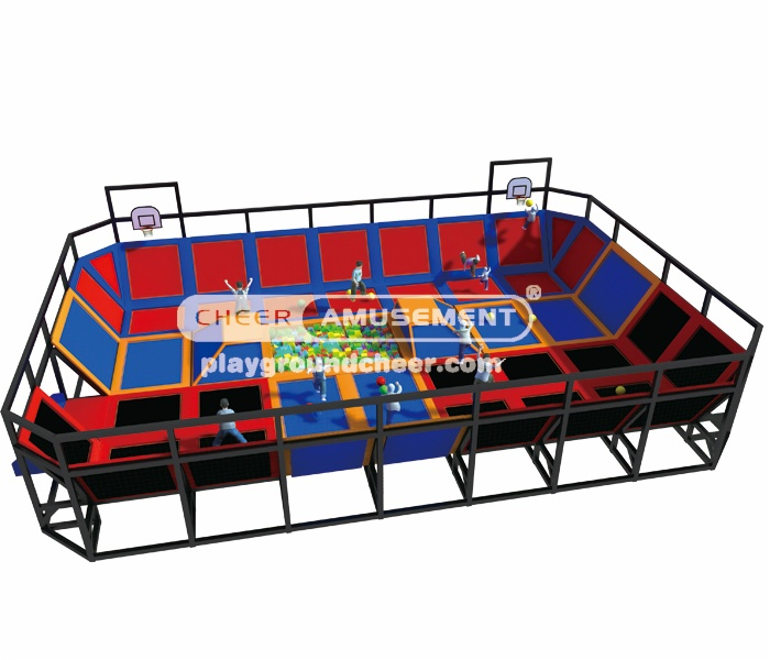 Cheer Amusement 3 in 1 trampoline park CH-ST130004