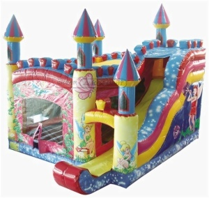 Cheer Amusement Fairy Tales Castle Themed Inflatable Combo Amusement Equipment With Bouncer And Slider Supply