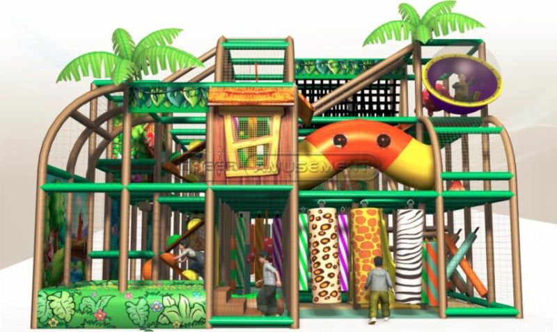 Cheer amusement jungle themed children indoor soft for Jungle themed playroom