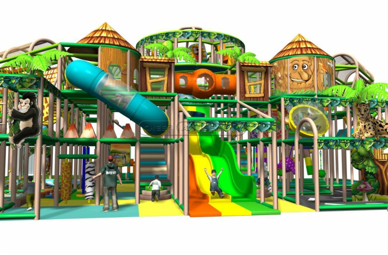 Cheer Amusement Children Play Centre Jungle Themed Indoor