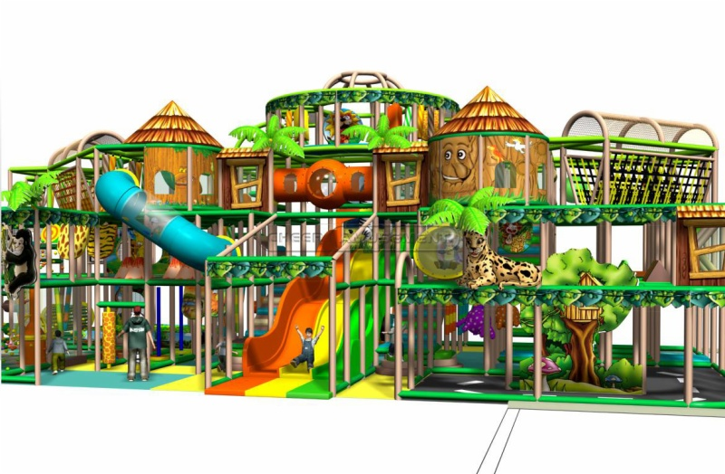 Cheer amusement children play centre jungle themed indoor for Jungle themed playroom