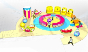 Cheer Amusement Circus Themed Children Amusement Park Toddler Softplay Ground Equipment