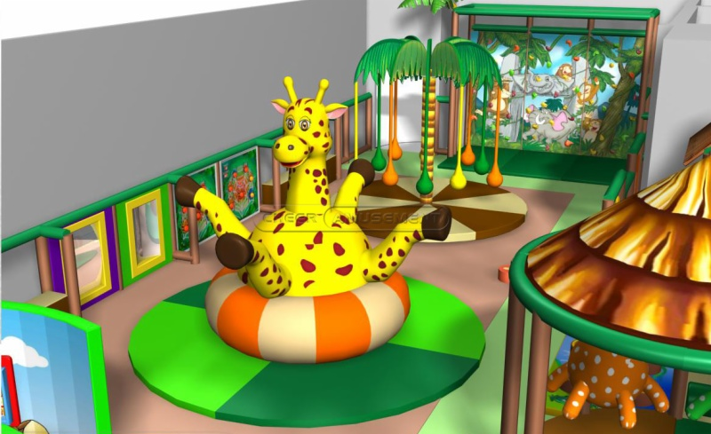 Cheer amusement jungle themed children play centre indoor for Jungle themed playroom