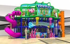 Cheer Amusement Underwater Themed Fun Ball Battle Indoor Playground Equipment