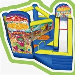 Cheer Amusement Children Indoor Playground Circus Inflatable Bouncer And Silde Combine