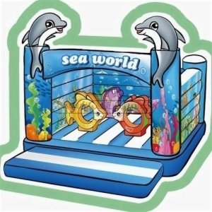 Cheer Amusement Sea World Themed Inflatable Bouncer Amusement Equipment Supply