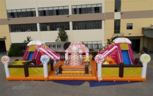 Cheer Amusement Candy Themed Inflatable Combo
