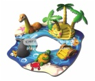 Jungle themed soft-sculpted foam play center