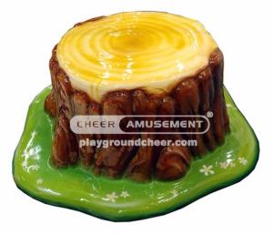 Cheer Amusement soft seat with stump decoration
