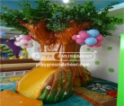 The soft foam tree including climbing, sliding, and tunnel