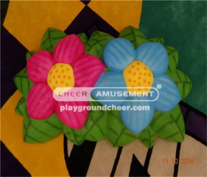 The soft foam flower shaped items with lovely cartoon decoration