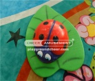 The ladybug shaped foam softplay with lovely cartoon decoration performance